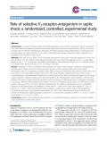 """Báo cáo y học: """"Role of selective V2-receptor-antagonism in septic shock: a randomized, controlled, experimental study"""""""