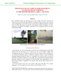 INFLUENCE OF ON FARM WATER MANGMENT TO THE METHANE EMISSION IN THE RED RIVER DELTA AREA - VIETNAM
