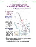 HYDROPOWER DEVELOPMENT IN THE LOWER MEKONG BASIN (LMB)
