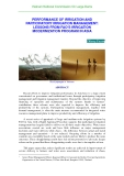 PERFORMANCE OF IRRIGATION AND PARTICIPATORY IRRIGATION MANAGEMENT: LESSONS FROM FAO'S IRRIGATION MODERNIZATION PROGRAM IN ASIA