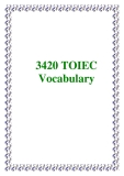3420 TOIEC Vocabulary