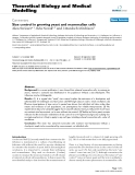 """Báo cáo y học: """"  Size control in growing yeast and mammalian cells"""""""