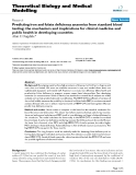"Báo cáo y học: ""Predicting iron and folate deficiency anaemias from standard blood testing: the mechanism and implications for clinical medicine and public health in developing countries"""