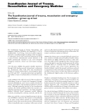 """Báo cáo y học: """" The Scandinavian journal of trauma, resuscitation and emergency medicine – grown up at last"""""""