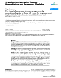 "Báo cáo y học: ""Pre-hospital advanced airway management by anaesthesiologists: Is there still room for improvement?"""