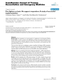 "Báo cáo y học: ""Fire fighters as basic life support responders: A study of successful implementation"""