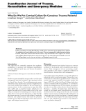 "Báo cáo y học: "" Why Do We Put Cervical Collars On Conscious Trauma Patients?"""