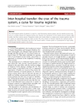 "Báo cáo y học: ""Inter-hospital transfer: the crux of the trauma system, a curse for trauma registries"""