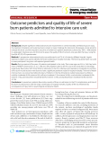 "Báo cáo y học: "" Outcome predictors and quality of life of severe burn patients admitted to intensive care unit"""