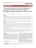 "Báo cáo y học: ""Pre-hospital intubation by anaesthesiologists in patients with severe trauma: an audit of a Norwegian helicopter emergency medical service"""