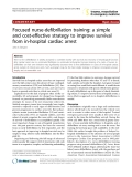 "Báo cáo y học: "" Focused nurse-defibrillation training: a simple and cost-effective strategy to improve survival from in-hospital cardiac arrest"""