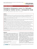 "Báo cáo y học: ""Emergency intraosseous access in a helicopter emergency medical service: a retrospective study"""