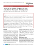 """Báo cáo y học: """"Trends in transfusion of trauma victims evaluation of changes in clinical practice"""""""