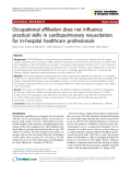 "Báo cáo y học: ""Occupational affiliation does not influence practical skills in cardiopulmonary resuscitation for in-hospital healthcare professionals"""