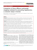 """Báo cáo y học: """"Comparison of three different prehospital wrapping methods for preventing hypothermia a crossover study in humans"""""""