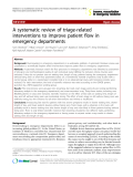 "Báo cáo y học: ""A systematic review of triage-related interventions to improve patient flow in emergency departments"""