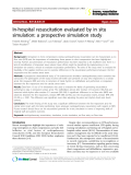 "Báo cáo y học: "" In-hospital resuscitation evaluated by in situ simulation: a prospective simulation study"""