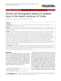"Báo cáo y học: "" Clinical and demographic features of pediatric burns in the eastern provinces of Turkey"""