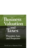 Business Valuation and Taxes Procedure Law and Perspective phần 1