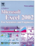 A Guide to Microsofl Excel 2002 for Scientists and Engineers phần 1