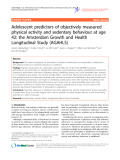 "Báo cáo y học: ""Adolescent predictors of objectively measured physical activity and sedentary behaviour at age 42: the Amsterdam Growth and Health Longitudinal Study (AGAHLS)"""