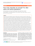 "Báo cáo y học: "" How many steps/day are enough? For older adults and special populations"""
