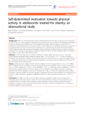 "Báo cáo y học: "" Self-determined motivation towards physical activity in adolescents treated for obesity: an observational study"""
