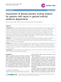 """Báo cáo y học: """" Assessment of disease-severity scoring systems for patients with sepsis in general internal medicine departments"""""""
