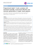 "Báo cáo y học: "" Programmed death-1 levels correlate with increased mortality, nosocomial infection and immune dysfunctions in septic shock patients"""