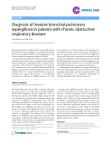 "Báo cáo y học: "" Diagnosis of invasive bronchial-pulmonary aspergillosis in patients with chronic obstructive respiratory diseases"""