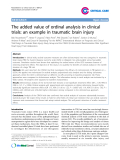 "Báo cáo y học: ""The added value of ordinal analysis in clinical trials: an example in traumatic brain injury"""