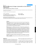 "Báo cáo y học: ""Regional differences in dosage compensation on the chicken Z chromosome"""