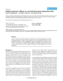 "Báo cáo y học: "" Indirect genomic effects on survival from gene expression data"""