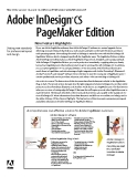 Adobe InDesign CS PageMaker Edition  New Feature Highlights