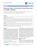 "Báo cáo y học: "" Hormonal status in protracted critical illness and in-hospital mortality"""