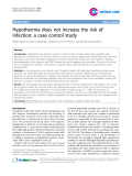 """Báo cáo y học: """" Hypothermia does not increase the risk of infection: a case control study"""""""