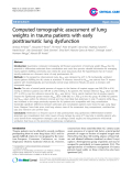 "Báo cáo y học: "" Endothelial Computed tomographic assessment of lung weights in trauma patients with early posttraumatic lung dysfunction"""