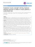 "Báo cáo y học: "" Inspiratory muscle strength training improves weaning outcome in failure to wean patients: a randomized trial"""
