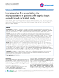 "Báo cáo y học: ""Levosimendan for resuscitating the microcirculation in patients with septic shock: a randomized controlled study"""