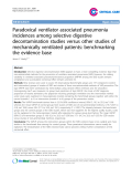 "Báo cáo y học: ""Paradoxical ventilator associated pneumonia incidences among selective digestive decontamination studies versus other studies of mechanically ventilated patients: benchmarking the evidence base"""