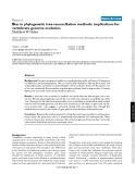 "Báo cáo y học: ""Bias in phylogenetic tree reconciliation methods: implications for vertebrate genome evolution"""