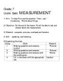 Grade: 7 Unit4- Set4:  MEASUREMENT
