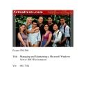 actualtests microsoft 070 290 exam managing and maintaining ms win 2003 phần 1