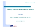 Topology Control in Wireless Ad Hoc Networks phần 1