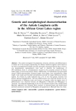 "Báo cáo sinh học: "" Genetic and morphological characterisation of the Ankole Longhorn cattle in the African Great Lakes region"""