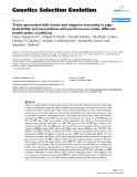 """Báo cáo sinh học: """" Traits associated with innate and adaptive immunity in pigs: heritability and associations with performance under different health status conditions"""""""