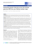 "Báo cáo sinh học: ""Estimating genetic diversity across the neutral genome with the use of dense marker maps"""