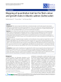 """Báo cáo sinh học: """" Mapping of quantitative trait loci for flesh colour and growth traits in Atlantic salmon (Salmo salar)"""""""
