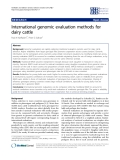 "Báo cáo sinh học: ""International genomic evaluation methods for dairy cattle"""