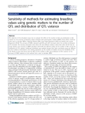 """Báo cáo sinh học: """" Sensitivity of methods for estimating breeding values using genetic markers to the number of QTL and distribution of QTL variance"""""""